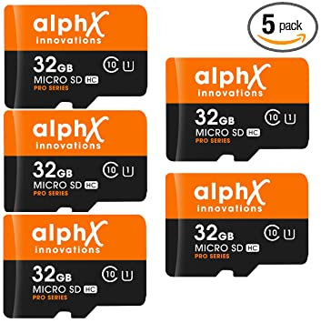 Amazon.com: Paquete de 7 tarjetas de memoria AlphX 32gb [5 ...