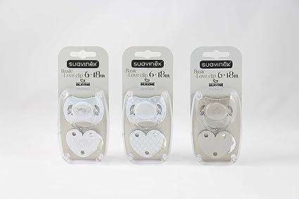 SUAVINEX Chupete 6-18M Basic Silicona + Love Clip: Amazon.es ...