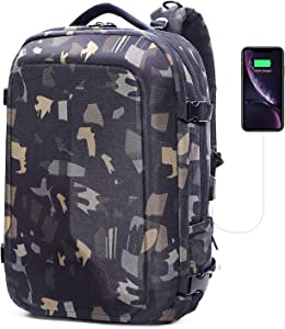 Hard Shell Armor Laptop Backpacks for Men-Drop Protection Waterproof Large Travel Laptop Backpack 17inch for Men with USB Charging Port
