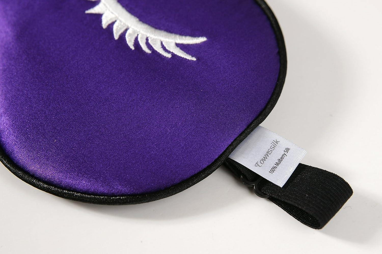 Augenbinde Lila Muster1 bequeme und super weiche Augenmaske ultimative Schlafhilfe 100/% Seiden-Schlafmaske mit verstellbaren B/ändern