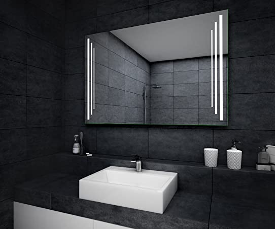 Beau Miroir Salle De Bain Lumineux Led 90X70Cm: Amazon.Fr: Cuisine