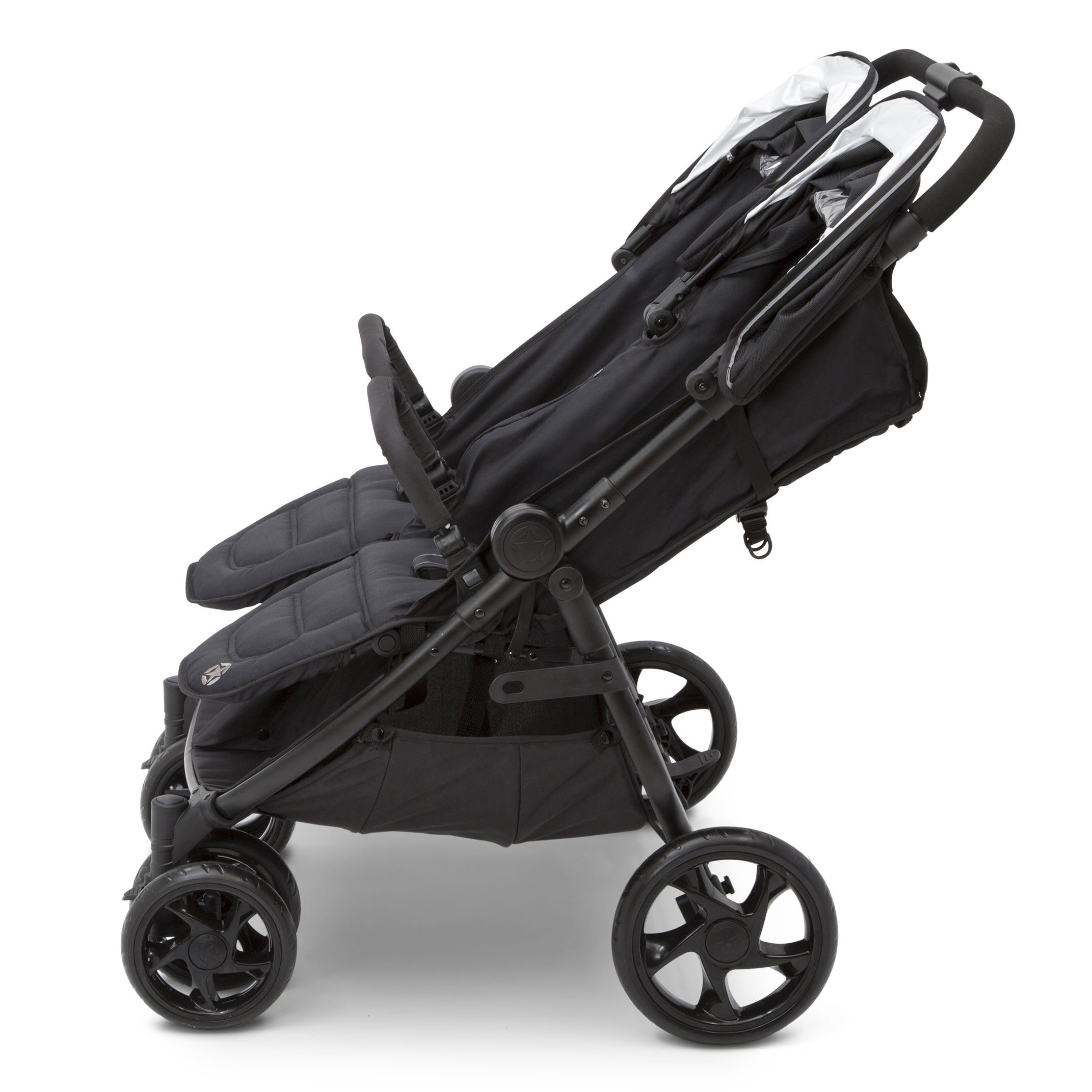 Jeep Destination Ultralight Side x Side Double Stroller, Midnight (Black) by Delta Children (Image #5)