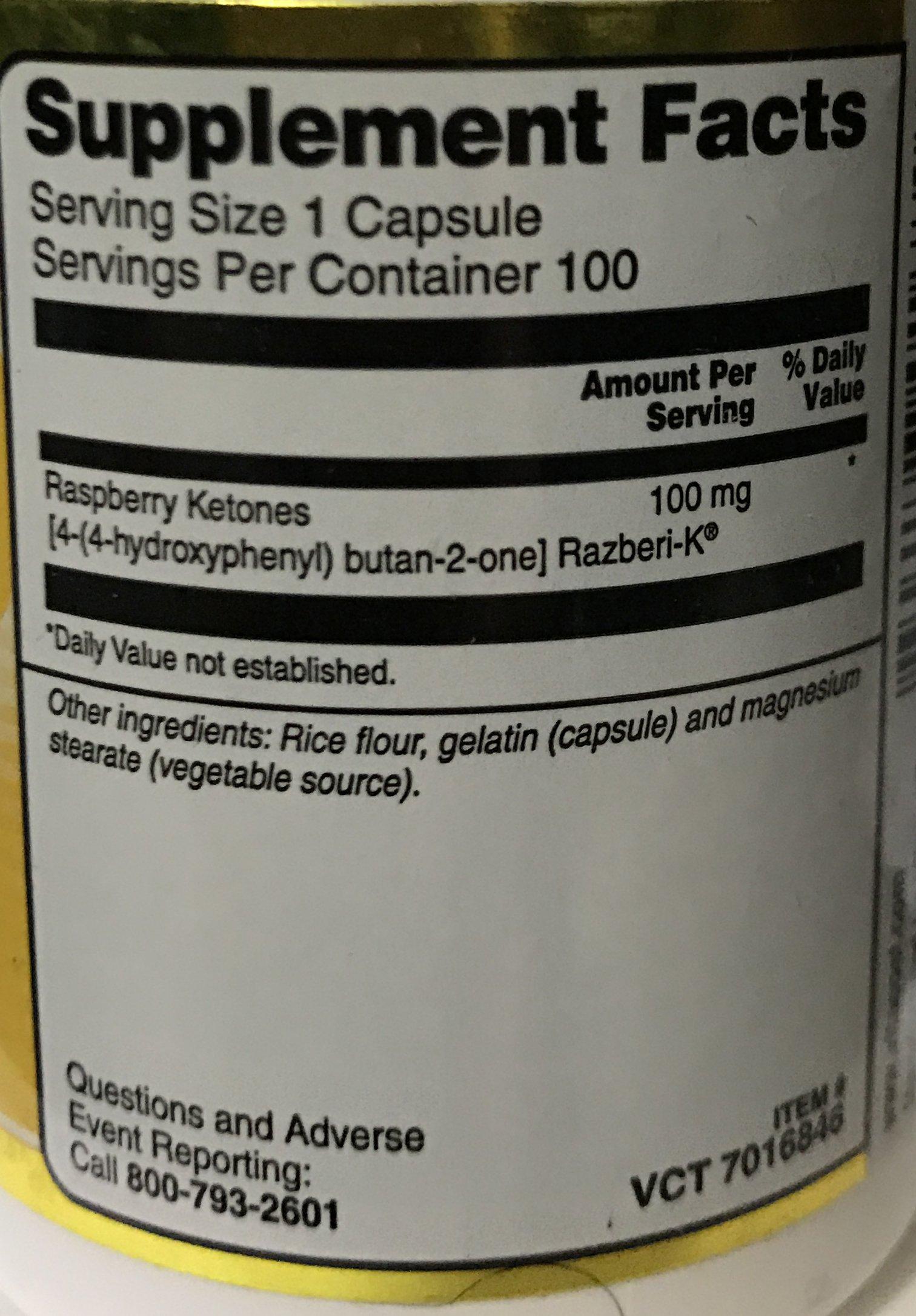 Vitacost Raspberry Ketones Featuring Razberi-K -- 100 mg - 100 Capsules by Vitacost Brand (Image #2)
