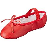 Miguelito Ballet Balerinas en Piel Unisex Infantil, Color Rojo