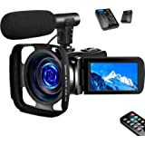 SAULEOO 4K Video Camera Camcorder Digital YouTube Vlogging Camera Recorder UHD 30MP 3 Inch Touch Screen 18X Camcorder…