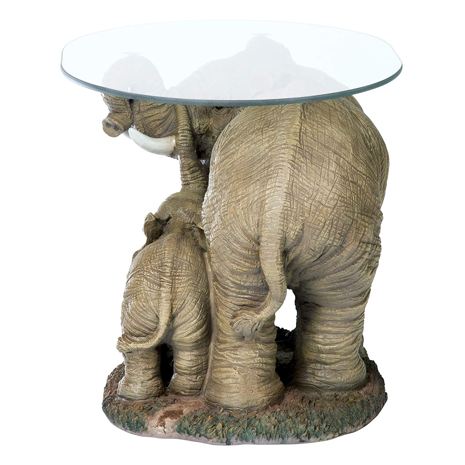 76 25 Cm Polyresin Full Color Design Toscano Jaipur Elephant Festival Indian Decor Coffee Table With Glass Top End Tables