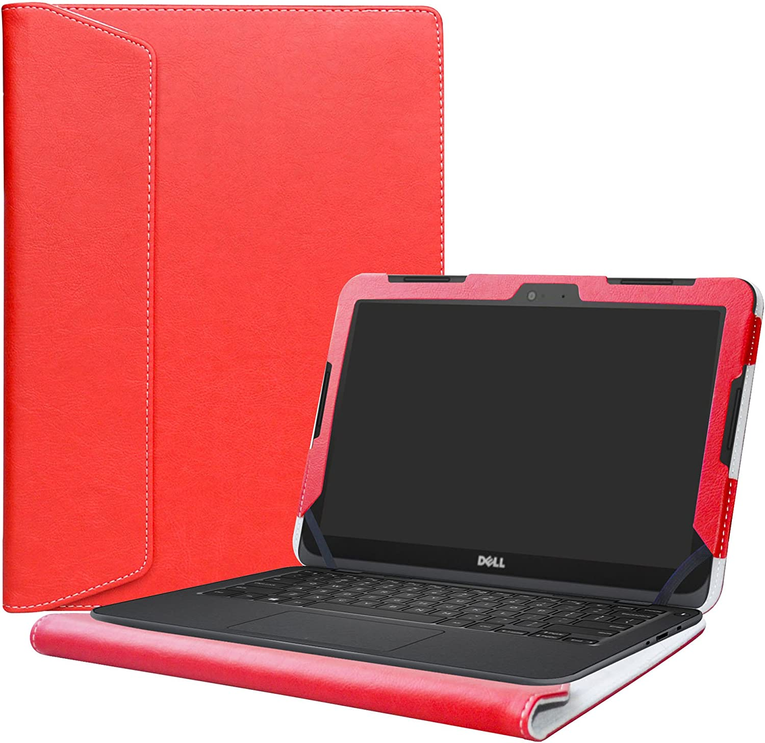 "Alapmk Protective Case Cover for 11.6"" Dell Inspiron 11 3180 3162 3164 Series Laptop(Warning:Not fit Inspiron 11 3137 3138 3147 3148 Series),Red"