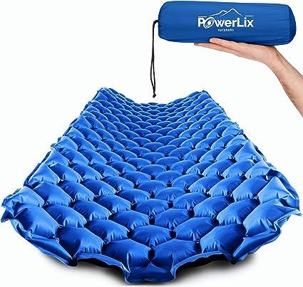 Amazon.com: PowerLix - Colchoneta para dormir, color azul y ...
