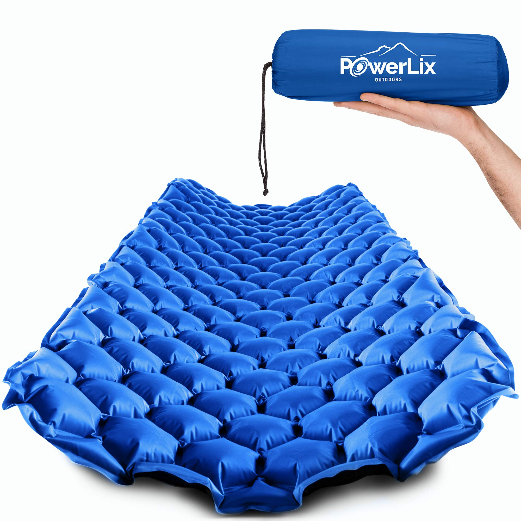 POWERLIX Sleeping Pad - Ultralight Self Inflatable Sleeping Mat, Ultimate for Camping, Backpacking, Hiking - Airpad, Inflating Bag, Carry Bag, Repair Kit - Compact & Lightweight Air Mattress by POWERLIX