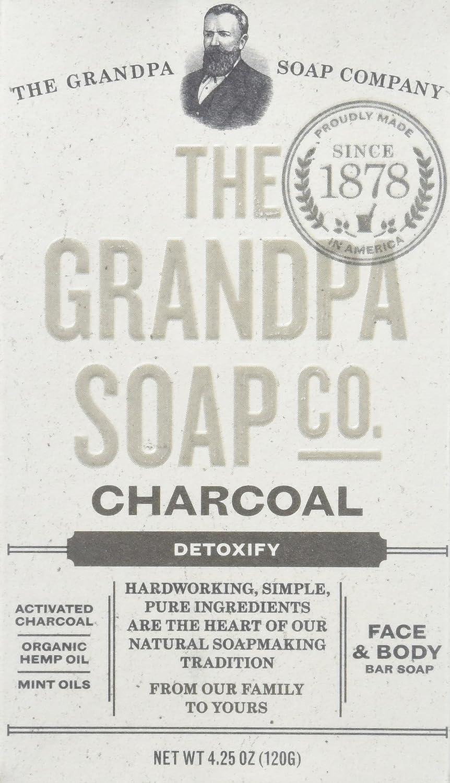 The Grandpa Soap Company Charcoal Bar Soap, 4.25 Oz 010486008131