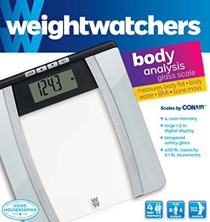 Amazon com  Weight Watchers Scales by Conair Body Analysis Glass Scale  Black   Chrome  Health  amp  Personal Care. Amazon com  Weight Watchers Scales by Conair Body Analysis Glass