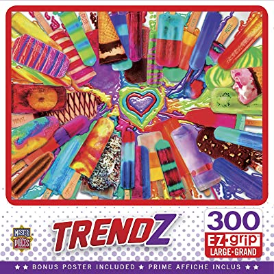 MasterPieces Trendz - Cool Treats 300-Piece EZ Grip Jigsaw Puzzle: Toys & Games