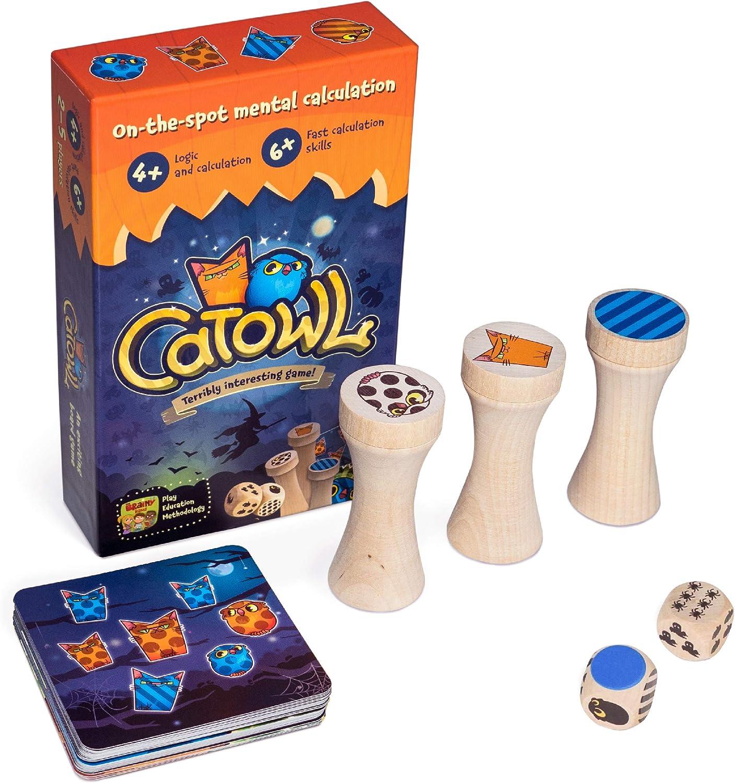 Divertidos juegos de mesa preescolar de matemáticas, juegos educativos para niños de 4 a 5 años, juego de contar gatos y búhos: Amazon.es: Juguetes y juegos
