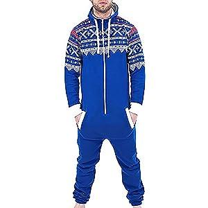 Fashion Oasis - Pijama de una Pieza - para Hombre Navy Plain Small ...