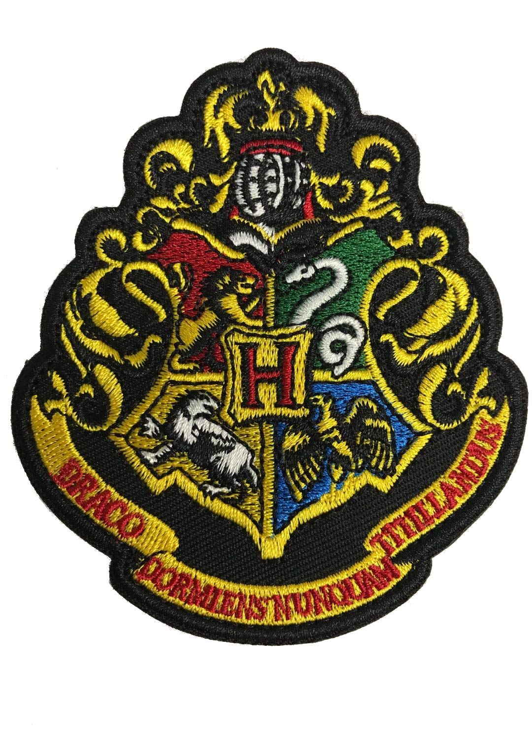 Gryffindor Oyster-Patch Harry Potter Hogwarts casa di Grifondoro//Tassorosso//Corvonero//Serpeverde Tactical patch Hook /& Loop