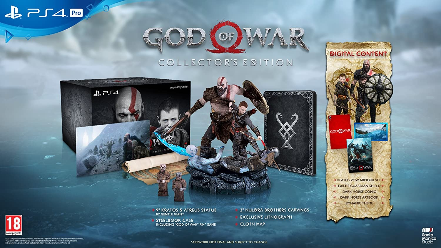 God Of War Collector S Edition Ps4 Amazon Co Uk Pc