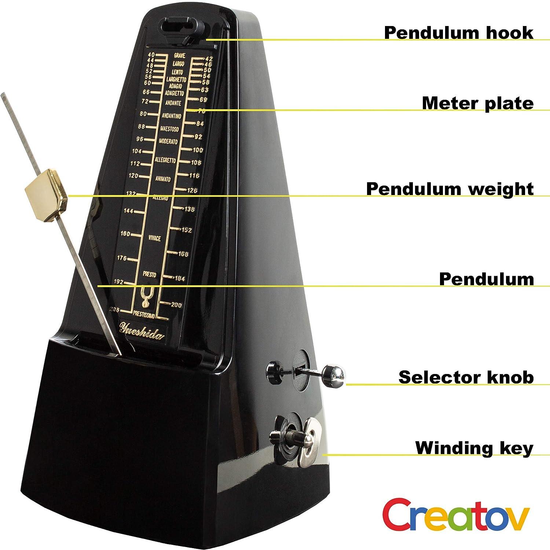 Creatov chitarra metronomo meccanico per pianoforte batteria design a piramide tiene traccia di tempo e battiti basso