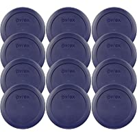Pyrex 2 Cup Blue Round Storage Lid/Cover #7200-PC for Glass Mixing Bowls - 12 Pack