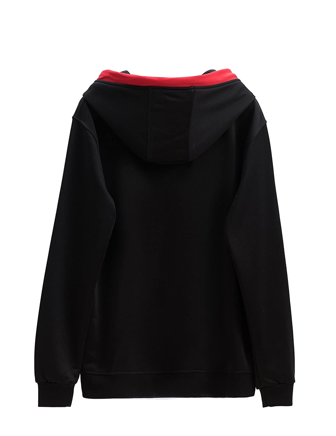 46506b11ee98 Aibrou Sweat Capuche Femme Pull Sweat Hiver Sweat à Capuche Chic Top Cou  Rond Manches Longues ...