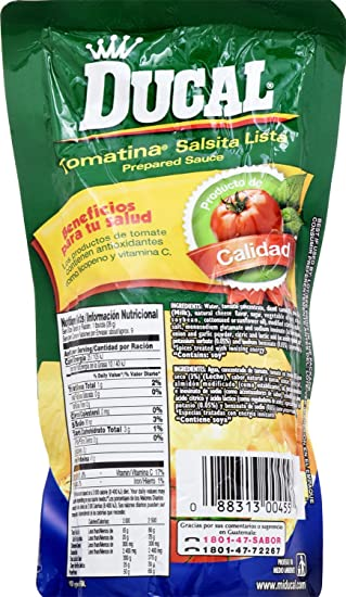 Amazon.com : Ducal Tomatina with Cheese Pouch, 8 Ounce (Pack of 24) : Grocery & Gourmet Food