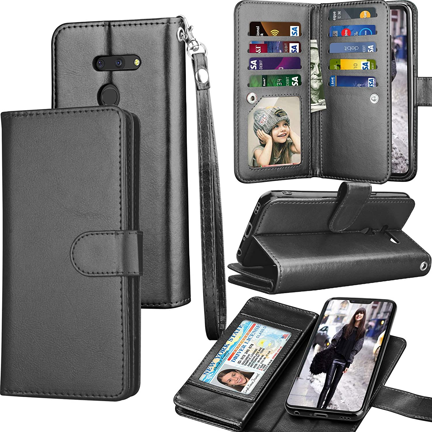 Amazon.com: Funda para LG G8, 2019 LG G8 ThinQ Cartera ...