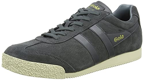 Gola Harrier Suede, Zapatillas Para Hombre, Gris (Graphite/Navy/Orange), 43 EU amazon-shoes el-gris Zapatillas bajas