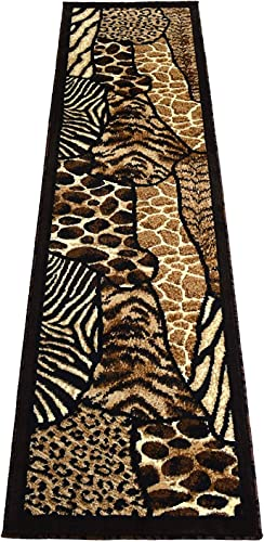 Animal Skin Prints Patchwork Leopard Zebra Rugs 4 Less Collection Runner Area Rug R4L 70 2 X7