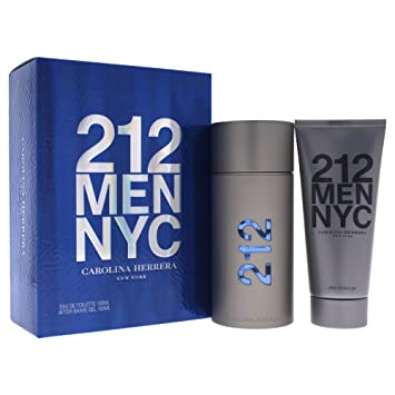 f6f2b128f Amazon.com : Carolina Herrera 212 Gift Set for Men : Fragrance Sets : Beauty