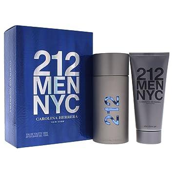 5e3c21e66a Amazon.com : Carolina Herrera 212 Gift Set for Men : Fragrance Sets : Beauty