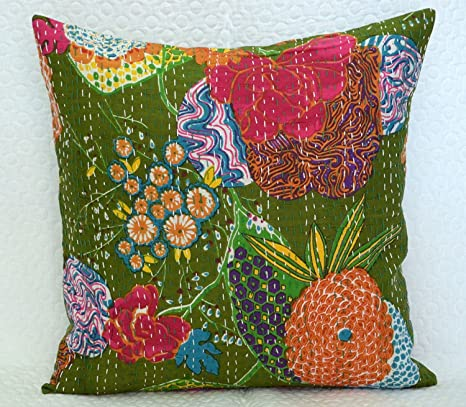 Amazon.com: Funda de almohada de tela hecha a mano con ...