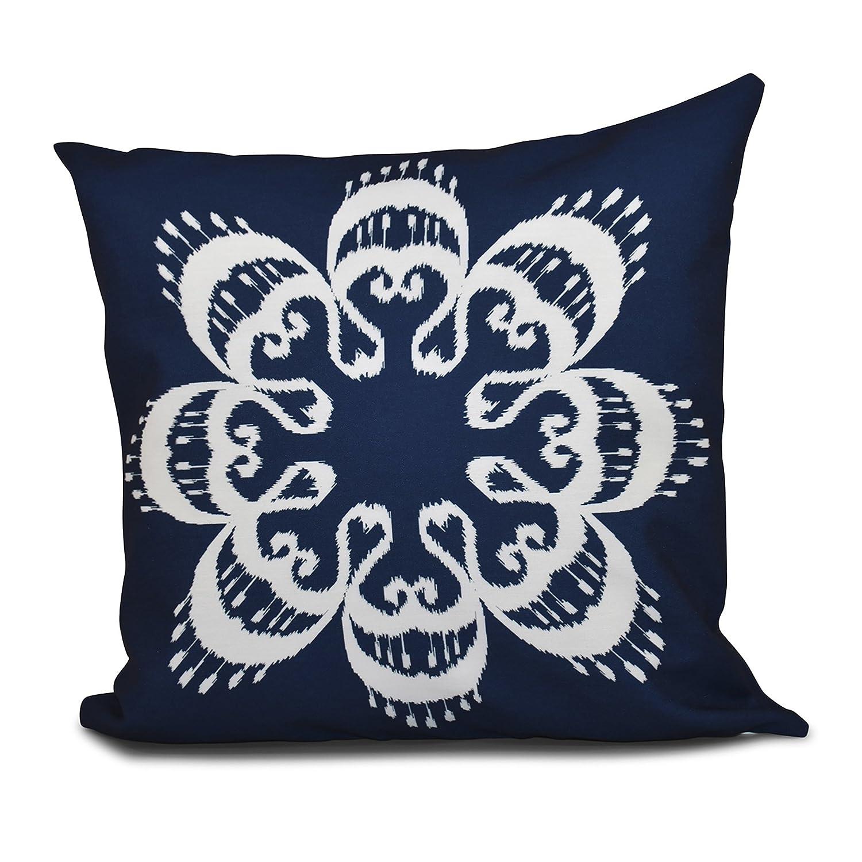Ikat Mandala Geometric Print Pillow 26x26 Blue E by design PGN543BL14-26 26 x 26-inch