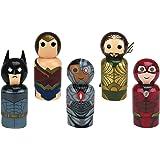 Bif Bang Pow! Justice League Movie Set of 5 Pin Mate Wooden Figure