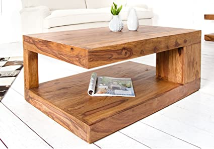 Shiv Shakti Sheesham Wood Coffee Table Center Table Living Room Table Solid Wood Table For Living Room Amazon In Home Kitchen