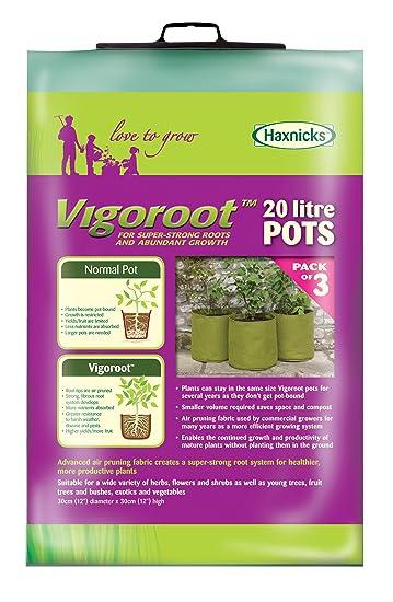 Tierra Garden 50 VIG11 Haxnicks 5.3 Gallon Vigoroot Pots, 3 Pack