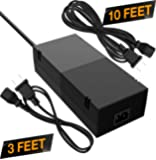 Ortz Xbox One Power Supply [Free 10ft Extension Cord] AC Adapter Cord Best for Charging - Brick Style - Great Charger Accessory Kit with Cable