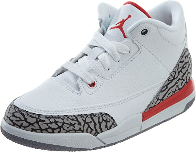 Jordan Retro 3 Basketball Boys Shoes Size 3