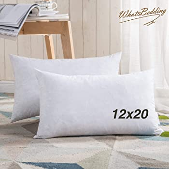 Downluxe 40% Feather 40% Down40% Cotton Fabric 40x40 Oblong Simple Oblong Pillow Inserts
