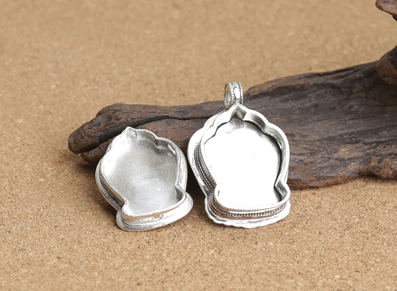 Epinki 925 Sterling Silver Women Men Necklace Plum Box Pendant Buddhism Men Necklace Silver Birthday Gift