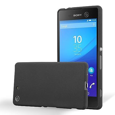 Cadorabo Funda para Sony Xperia M5 en Frost Negro: Amazon.es ...