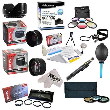 25 piezas avanzada paquete para la lente de Olympus E-620, E-610 ...