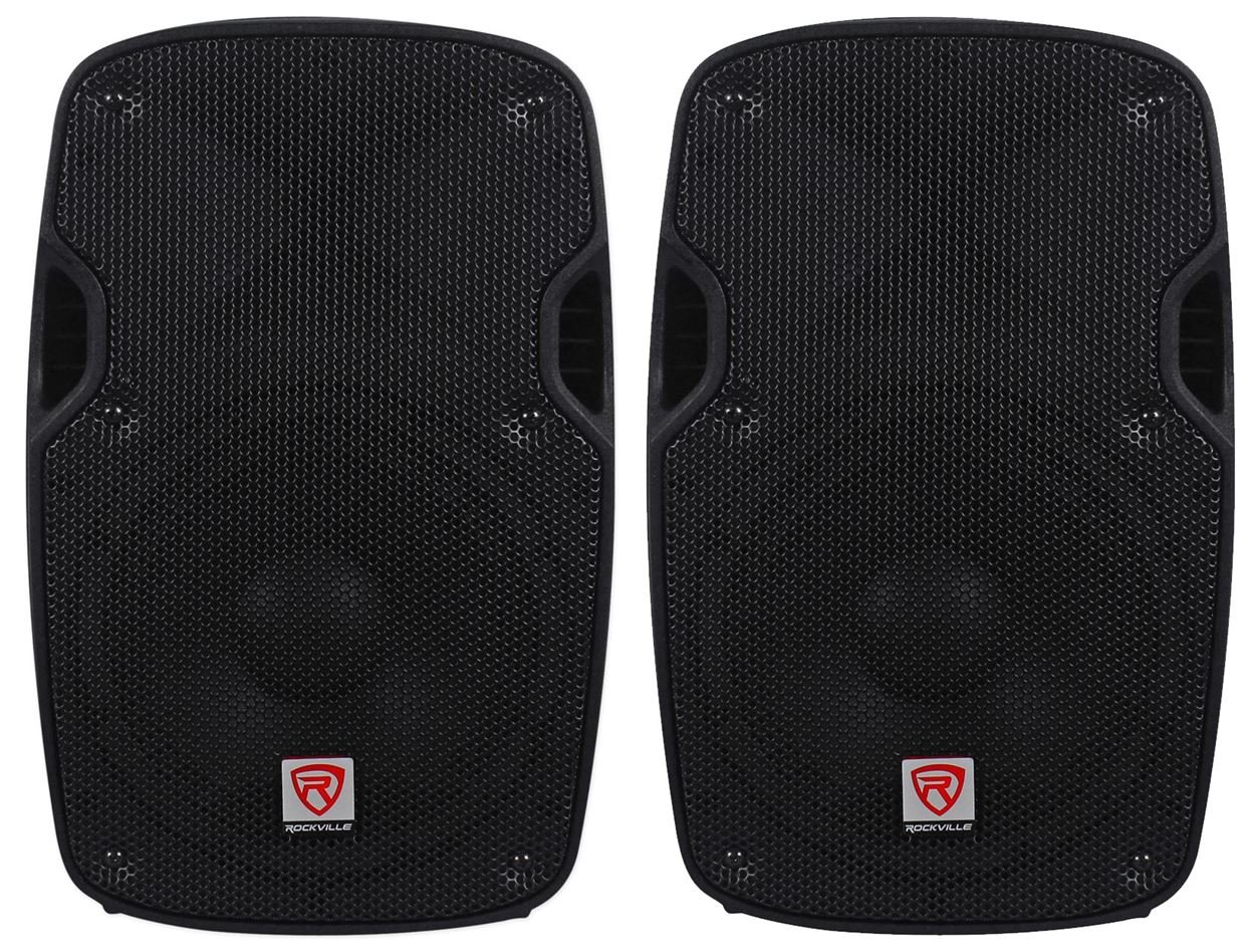 2) Rockville SPG88 8 Passive 800W DJ PA Speakers ABS Lightweight Cabinet 8 Ohm