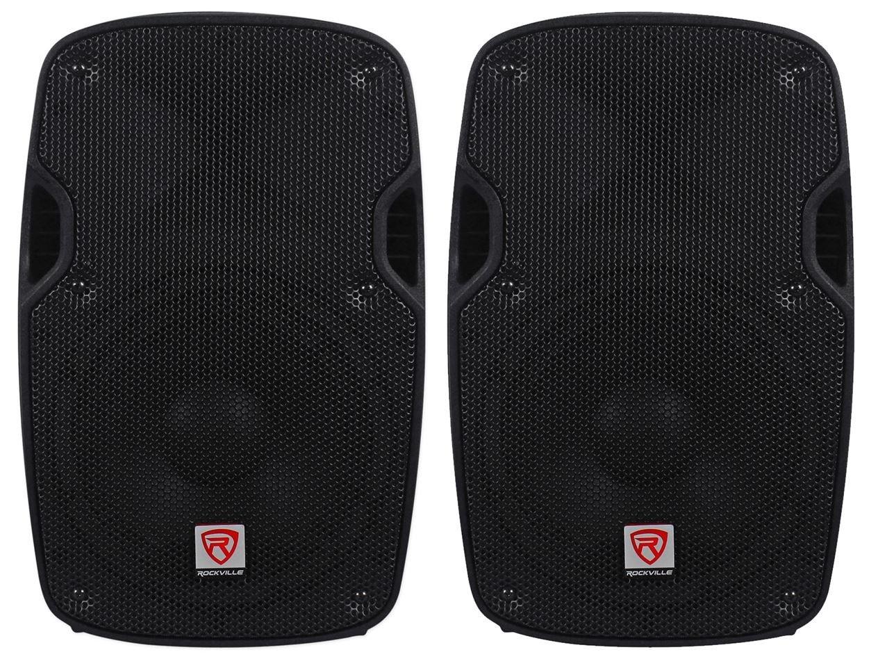 2) Rockville SPG88 8 Passive 800W DJ PA Speakers ABS Lightweight Cabinet 8 Ohm by Rockville