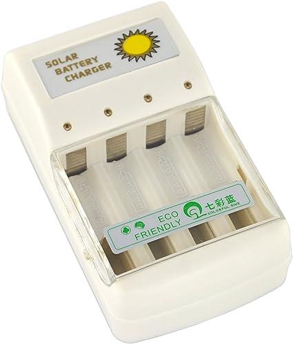 Amazon.com: samyo Solar Cargador De Batería Para 4 Pcs AA ...