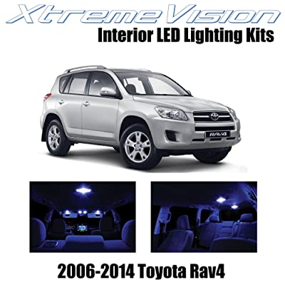 XtremeVision Interior LED for Toyota RAV4 2006-2014 (6 Pieces) Blue Interior LED Kit + Installation Tool: Automotive