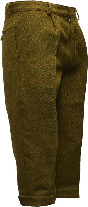 Walker and Hawkes Men's Derby Tweed Shooting Plus Fours Breeks Trousers - Dark Sage