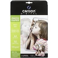 Canson Digital Everyday Papier Photo Double Face Mat 170 g A4 Blanc - Lot de 50 Feuilles