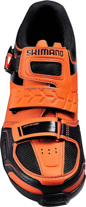 Scarpe da bicicletta MTB scarpe Shimano SH m089o Arancione con arpionismo e velcro, arancione
