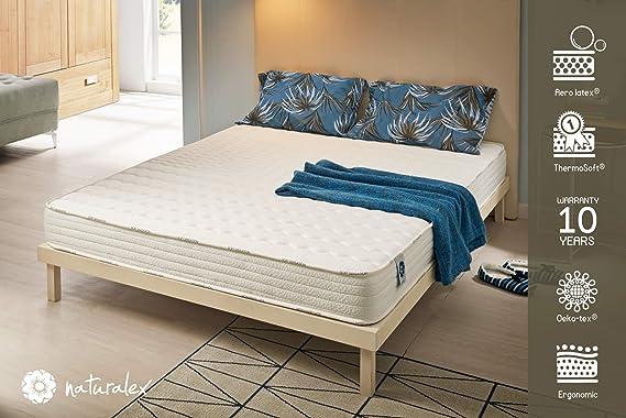 Naturalex Colchón Soft Sensation - Espuma Aero Latex® bi-Densidad - Viscoelástica Thermosoft - 7 Zonas de Confort - hipoalergénico (80 x 190 cm, ...