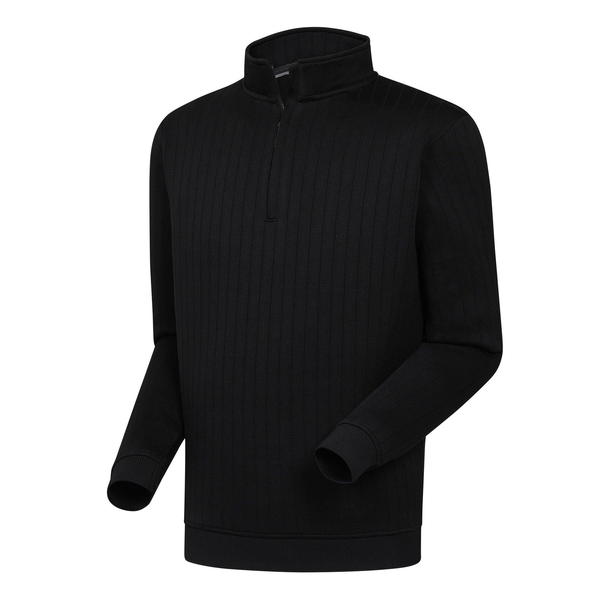 FootJoy Drop Needle Half-Zip Gathered Waist Black, Medium