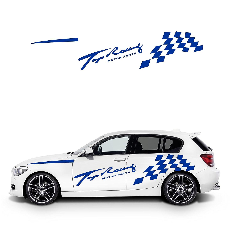 Amazon com top racing checkered flag sports car sticker cool car door sticker automotive